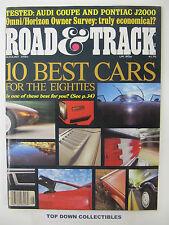 Road and Track Magazine   August  1981    Salon: 1959 Fiat Abarth 750 GT Zagato