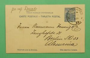DR WHO 1912 ARGENTINA POSTAL CARD BUENOS AIRES TO GERMANY C244567