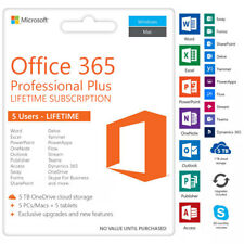 Microsoft Office Pro 365 FOR LIFETIME ACCOUNT 5 DEVICES 5TB WINDOWS, MAC, MOBILE