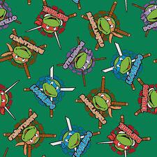 TEENAGE MUTANT NINJA TURTLES HEROES IN HALF SHELL  FLEECE  FABRIC   60X59 INCHES