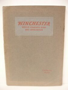 VINTAGE Original 1920 208 page Catalog Winchester repeating arms rifles shotguns