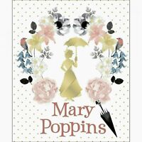 "WHITE MARY POPPINS DAMASK FABRIC PANEL w/ METALLIC 35"" QUILTING CAMELOT COTTONS"