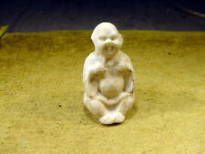 excavated victorian figurine laughing Budda minor damaged to ear age 1860 13215