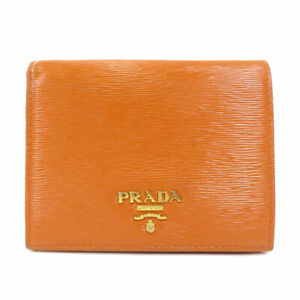 PRADA   Bifold Wallet with Coin Pocket logo Leather