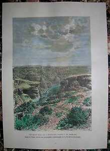 1892 Reclus print BADLANDS, SOUTH DAKOTA (#35)