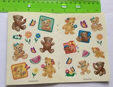 Sandylion Vtg Mini Teddy Bear Blank coated Sticker Book with over 20 Stickers