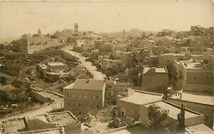 RPPC Postcard Bethlehem Palestine Overview of Town