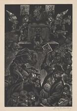 Fritz Eichenberg Woodcut Follies of Teaching Lot 156