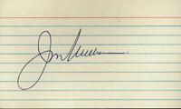 Jim Williams Autograph 3 X 5 Card  - GBC Authentic Serial #GBC1180