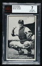 1953 Bowman Black and White Del Wilber #24 BVG 7