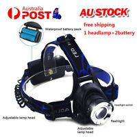 50000LM XM-L T6 LED Headlamp Rechargeable Headlight Head Torch Light Lamp AU