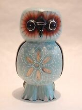 "Wooden Owl Hand Carved&Painted Wood Bali Home Decor Sculpture 6"" #N0097"
