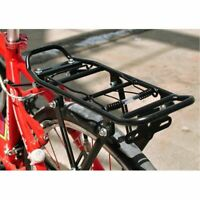 Back Rear Bicycle Rack Adjustable Bike Cycling Cargo Luggage Carrier Rack Black