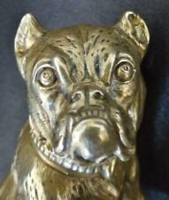 More details for rare victorian brass bulldog and pup
