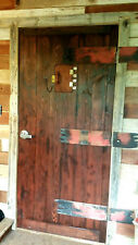 "New 36"" x 80"" Handcrafted, Medieval, Wood Entry Door ☆ Pre-Hung! Ships Free!!!"