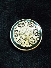 large mid century gold tone filigree Brooch/ 1960s floral pin / costume jewelry