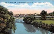 Moorhead Minnesota Bridge Over Red River Antique Postcard K103422