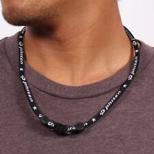 "Phiten 18"" Classic Titanium Necklace Black"