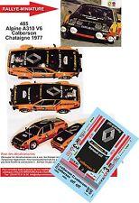 Decals 1/43 réf 485 Alpine A310 V6 Calberson Chataigne 1977 FREQUELIN DELAVAL