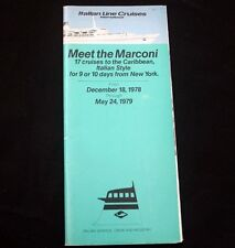 ITALIAN LINE Meet the MARCONI Brochure 1979