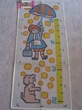 "Vintage Latch Hook Rug Canvas by Spinnerin Upsy Daisy Growth Chart 301 18""x48"""