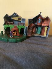 Polly Pocket Harry Potter figures Playset Weasley House The Burrow Ron & Trolls