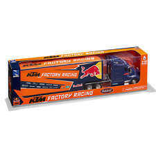 More details for red bull ktm factory racing team truck 1/43 scale diecast model length 460mm