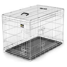 Hundekäfig Transportbox Hundebox Tierkäfig Welpenkäfig Faltbar Metall Silber L
