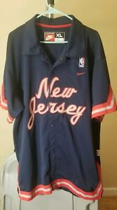 New Jersey Nets NBA Nike Vintage Blue New Jersey XL Practice Shooting Jacket