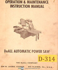 Doall C-70 167 page Parts Manual 1973 Band Saw