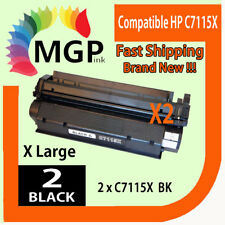2x C7115X 15X Toner Cartridge For HP Laserjet 1000 1200 1220 3300 3330 1005