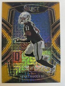 HENRY RUGGS III /10 Panini Select Gold Prizm AUTO 4/10 Lions Legend Holo