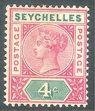 Seychelles 1890 carmine/green 4c Die I mint SG2