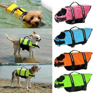 Dog Beach Puppy Swim Life Jacket Vest Reflective Stripe Pet Supply XS-XL