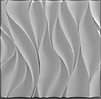 Wawe Plastic Molds for 3 D Panels  Plaster wall stone Form 3D decor wall panels
