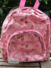 Small Pink DANCE BACKPACK BAG Ballet School Travel Sports Gym Girls Kids Ladies