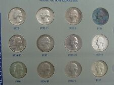 Washington Silver Quarter Dollar Set Complete 1932 - 1964 1965-1969 Proofs Unc.