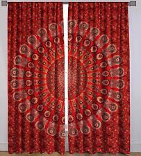 Peacock Mandala Cotton Wall Decor Room Window Door Curtains Boho Balcony Drape