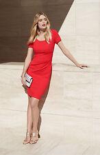 NEW ~ DVF DIANE VON FURSTENBERG ~ 'Bevina' Sheath Dress Red Size 0 XS