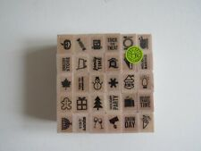 Kelly Purkey Halloween Christmas Holiday planner rubber stamps brand new
