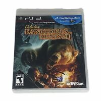 Cabela's Dangerous Hunts 2011 (Sony PlayStation 3, 2010) Complete w/Manual