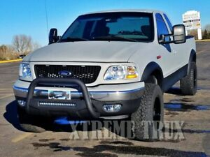 Textured Black 97-03 Ford F150 Extended Fender Flares Bolt On No Drill