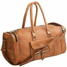 Real Pure Leather Gym Bag Luggage Vintage Genuine Overnight Handmade Duffle Bag