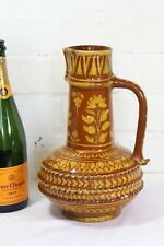 A Vintage Terracotta Hand Painted Arabic Water Jug Islamic Decorative Signed