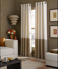 "CurtainWorks Kendall Grommet Curtain Panel Window Lined Drape Colorblock 52""x63"""