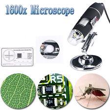 Mini USB Digital Mikroskop 1600x HD Microscope Kamera 8 LED für Handy PC Stock