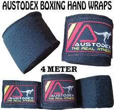 Boxing MMA UFC HAND WRAPS Wrist Guards cotton Bandages bar straps kick gloves