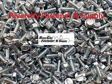 (100) M6-1.0 x 16 / M6x16 Metric Hex Flange Bolts Grade 10.9 DIN 6921 6mm x 16mm