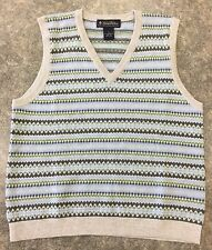 BROOKS BROTHERS V NECK SWEATER VEST WOMEN'S SIZE M 100% LAMBS WOOL