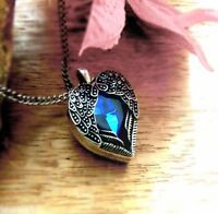 Angel Heart Blue Gift for Her Women Wife Girlfriend Valentines Day Love Diamond